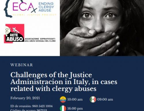 Webinar Today on Update on Clergy Abuse and Justice in Italy